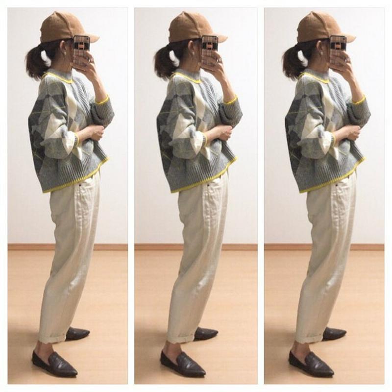 H&M(エイチアンドエム)の「ジャカードニットセーター」をあわせたコーディネートです