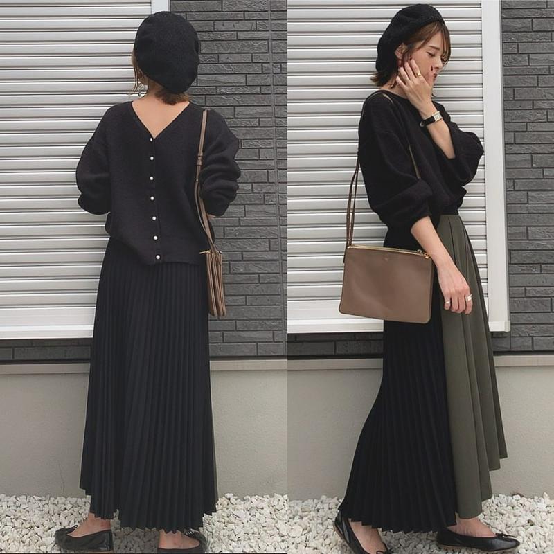 Sylph(シルフ)の「【yun_wearさんコラボ】アシンメトリープリーツスカート」をあわせたコーディネートです