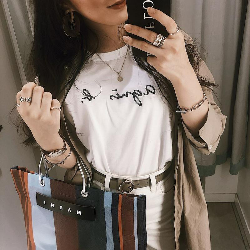 agnes b.(アニエスベー)の「FEMME/(W)S137 TS ロゴTシャツ(agnes b. FEMME)」をあわせたコーディネートです