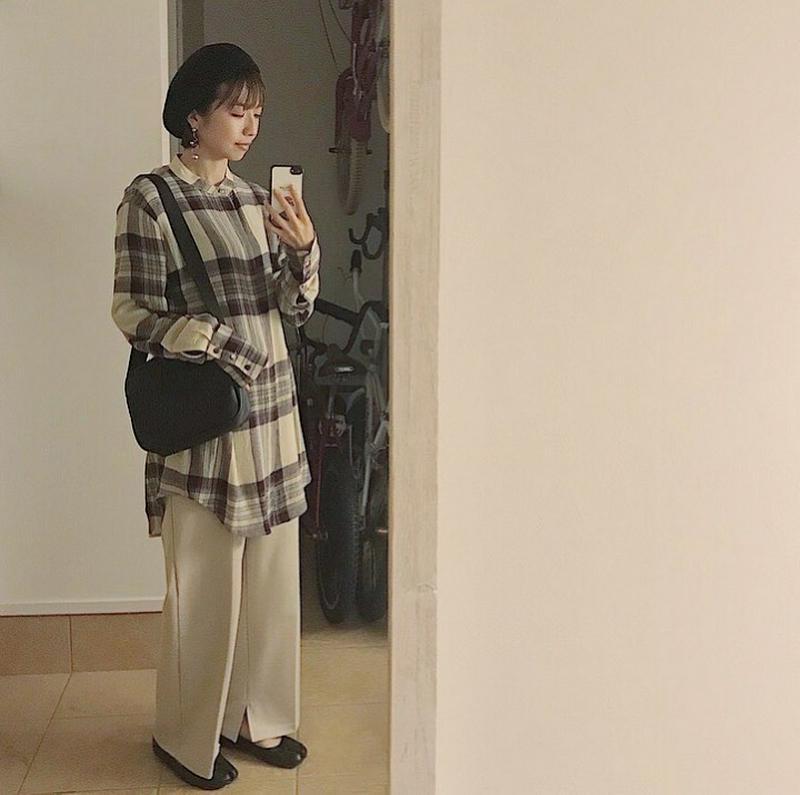 TODAYFUL(トゥデイフル)の「Softwool Long Shirts」をあわせたコーディネートです