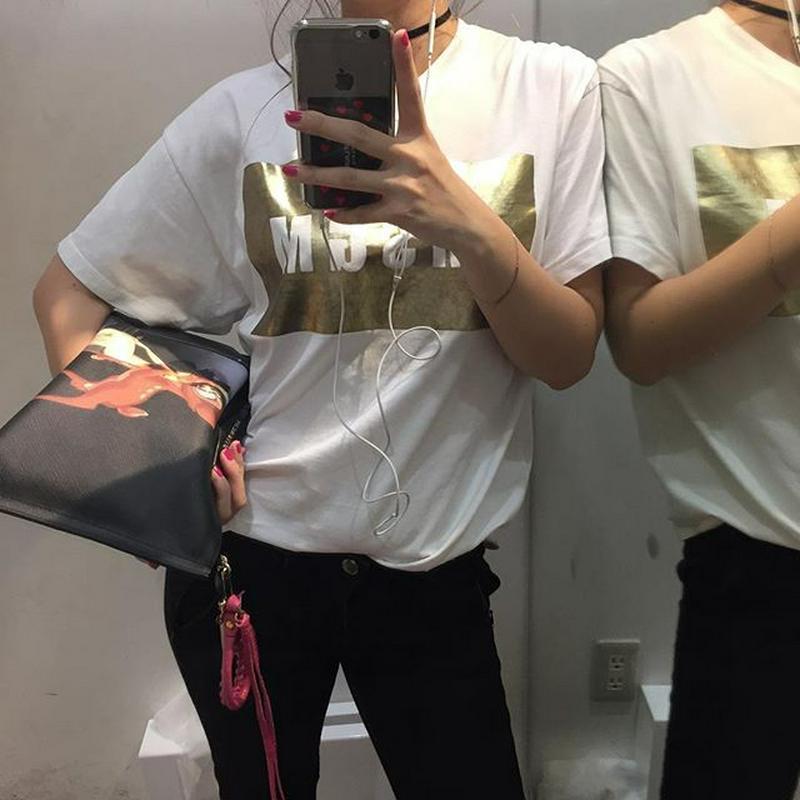 JUNGLE JUNGLE(ジャングル ジャングル)の「MSGM Tシャツ ロゴT ロゴ エム エス ジー エム MSGM MDM95 イタリア ミラノ 定番 トップス 半袖 ブランド」をあわせたコーディネートです