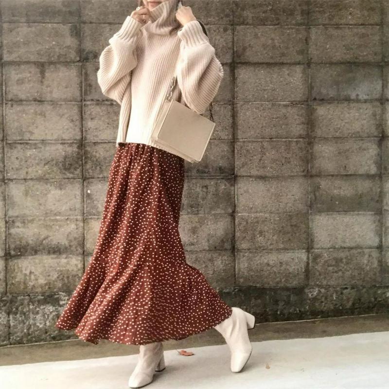 i.Rina(アイリナ)の「マーメイドシルエットロングスカート」をあわせたコーディネートです