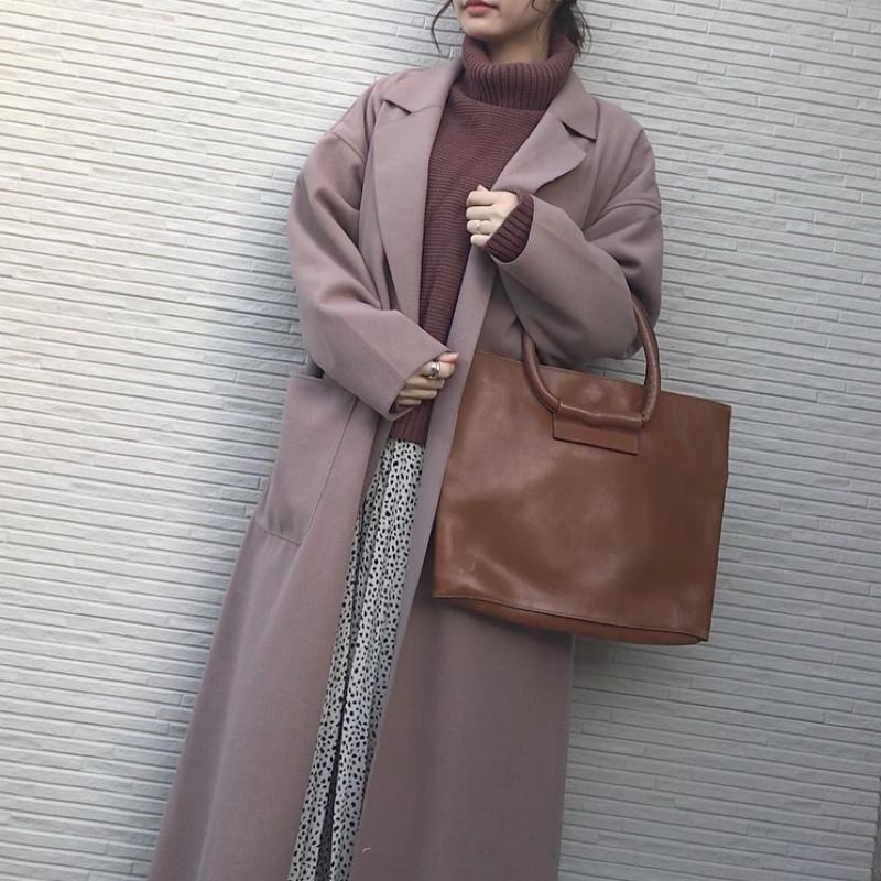 GRL(グレイル)の「今田美桜 sweet10月掲載リバーロングコート」をあわせたコーディネートです