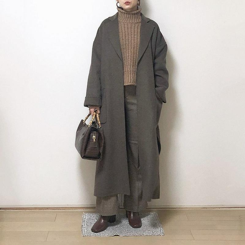 ZARA(ザラ)の「パッチポケット付きコート」をあわせたコーディネートです