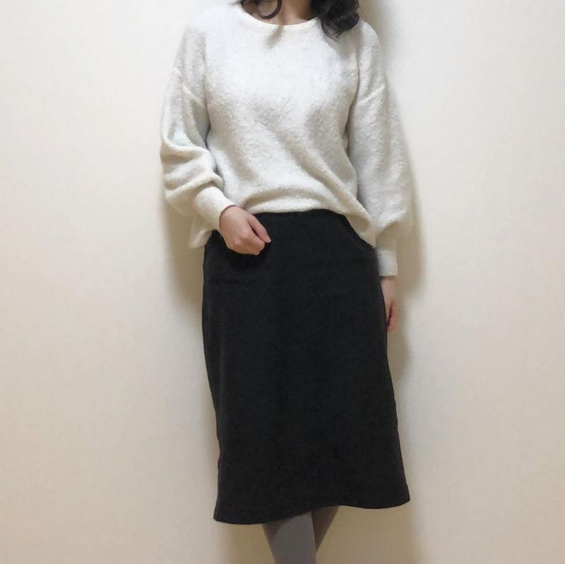 ユニクロデニムジャージースカート