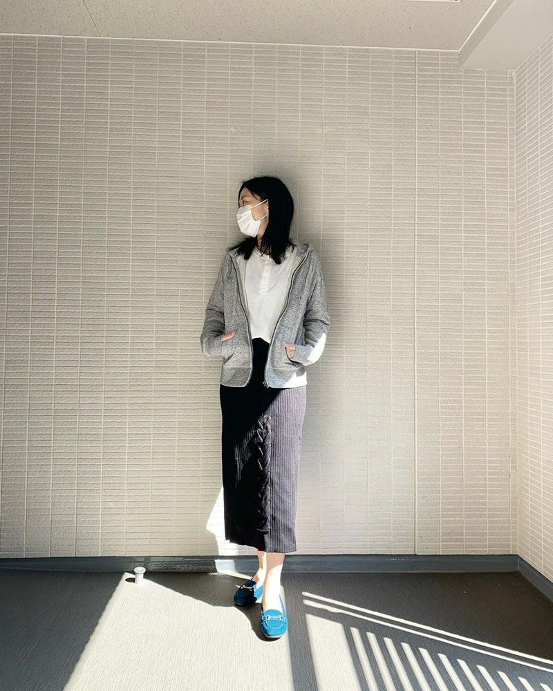 UNIQLO(ユニクロ)の「スウェットフルジップパーカ(長袖)」をあわせたコーディネートです