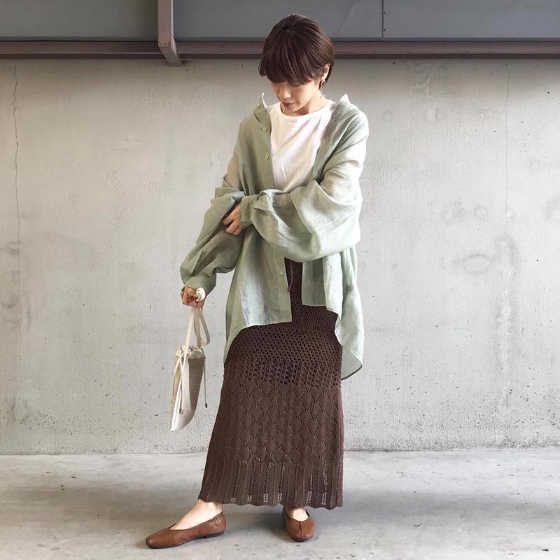 透かし編みスカート