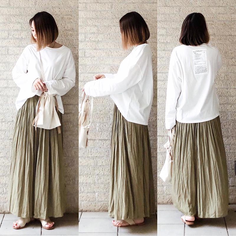 Lavish Gate(ラヴィッシュ ゲート)の「【ネコポス送料無料】 エプロンバッグ 巾着バッグ レディース 日本製 レッドクロス リネン生地 ミリタリー」をあわせたコーディネートです