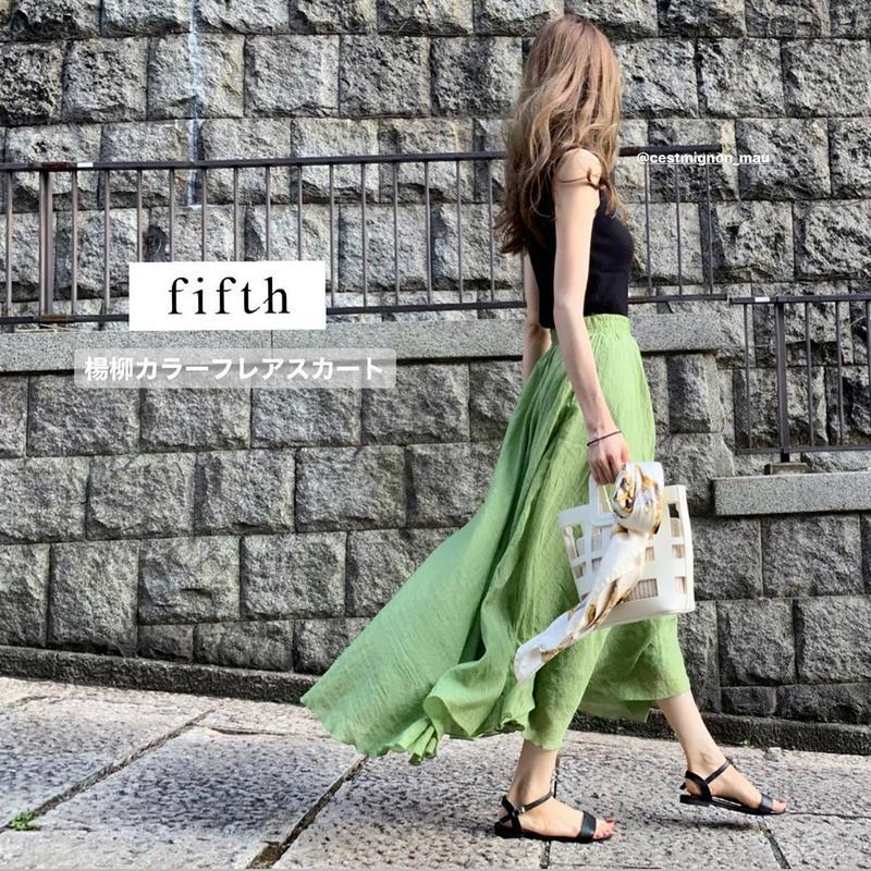 fifth(フィフス)の「【スタイリストプロデュース】楊柳カラーフレアスカート」をあわせたコーディネートです