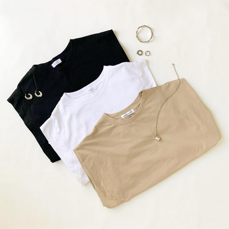 DHOLIC(ディーホリック)の「タックキャップスリーブTシャツ・全3色・b62061 レディース【tops】【トップス Tシャツ キャップスリーブ ショートスリ」をあわせたコーディネートです