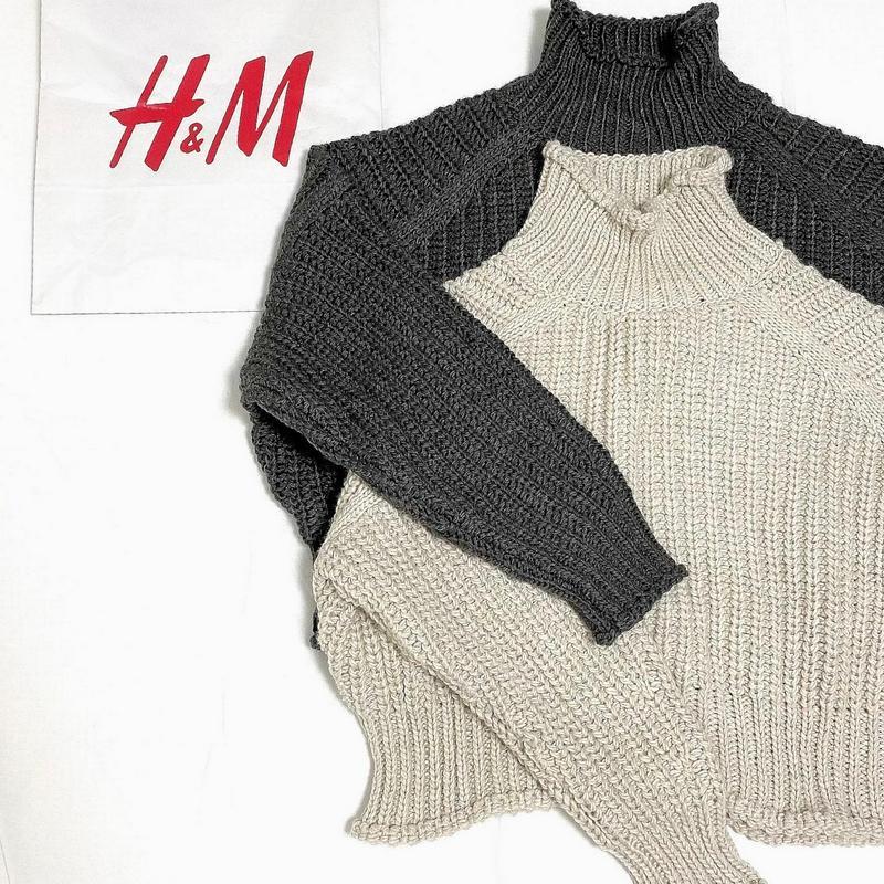 ハイネック h&m リブニット セーター ニット レディース