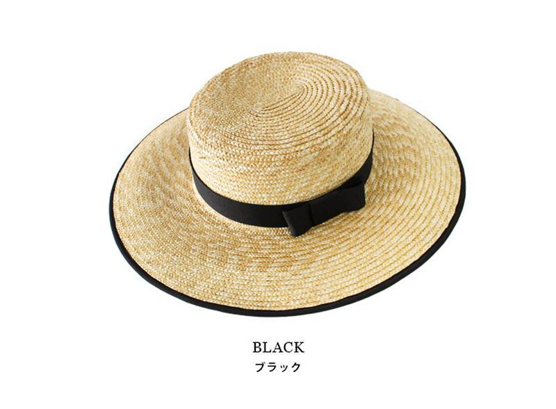 パイピングリボンカンカン帽