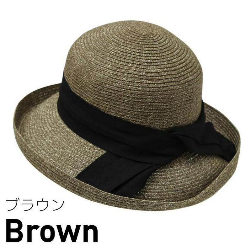 試着/帽子/細ブレードコットンリボン巻きセーラーハット/レディース