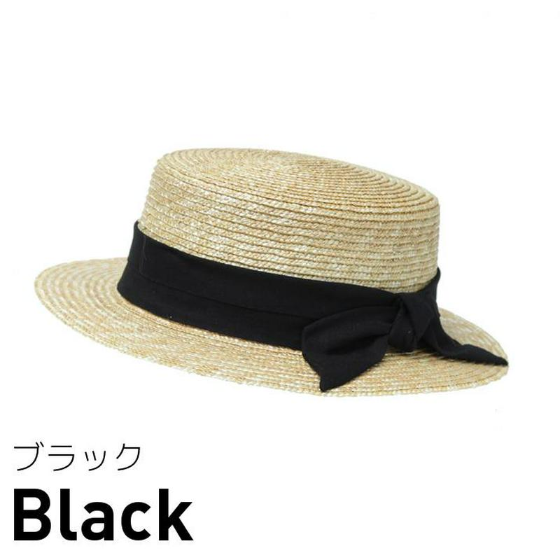 試着/帽子/麦ブレードカンカン帽/レディース