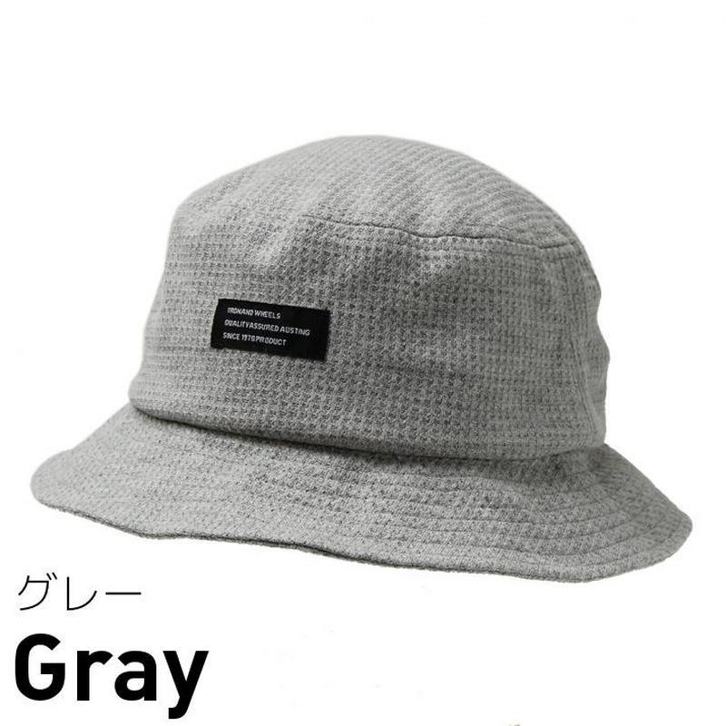試着/帽子/ワッフル素材タグ付きバケットハット/メンズレディース メール便OK