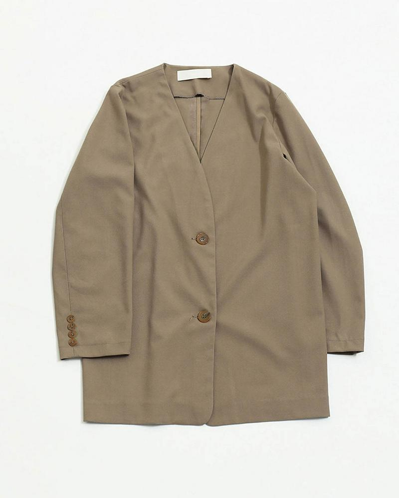 Collarless Over Jacket