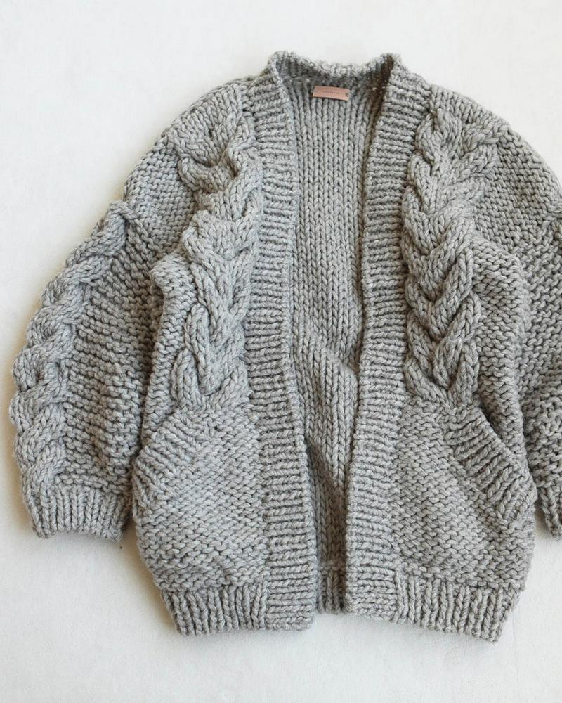 Cable Handkint Cardigan