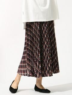 GLACIER ロングプリーツスカート