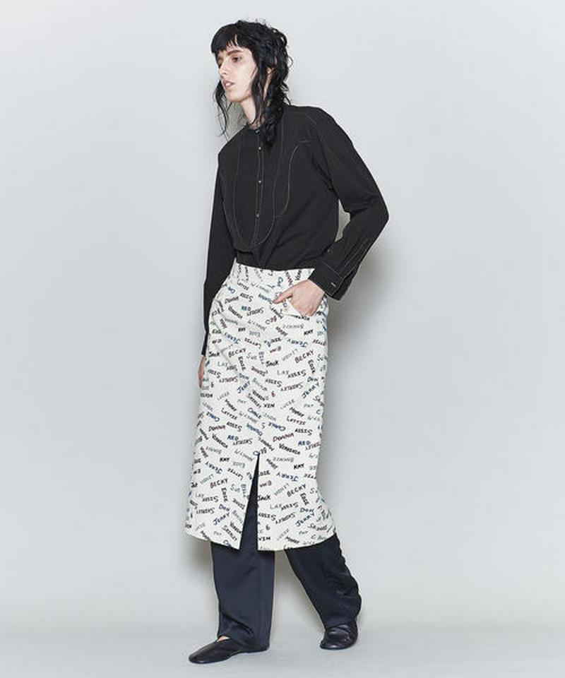 <6(ROKU)>BAND COLLAR SHIRT/シャツ