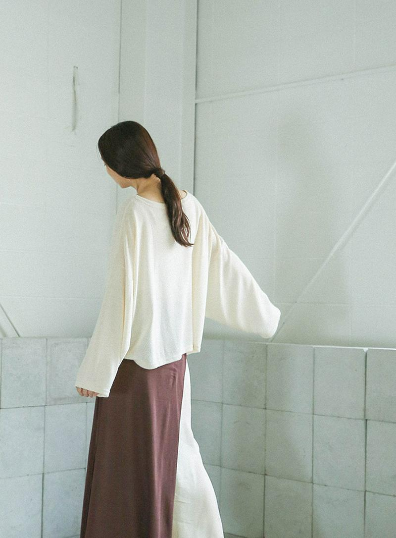 【KNIT&OUTER 15%OFF 10/31(Thu)15:00-11/5(Tue)14:00】ルーズシルエットパイルコット