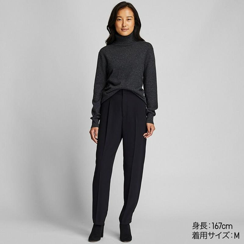 カシミヤタートルネックセーター(長袖)