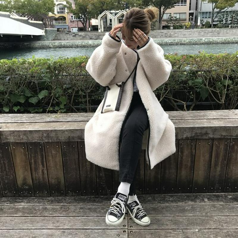 (Ray 掲載)long boa coat