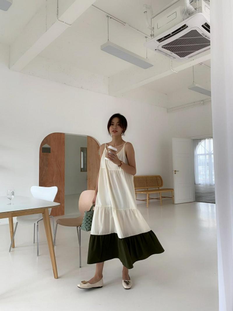 DOUBLE COLOR キャミドレス