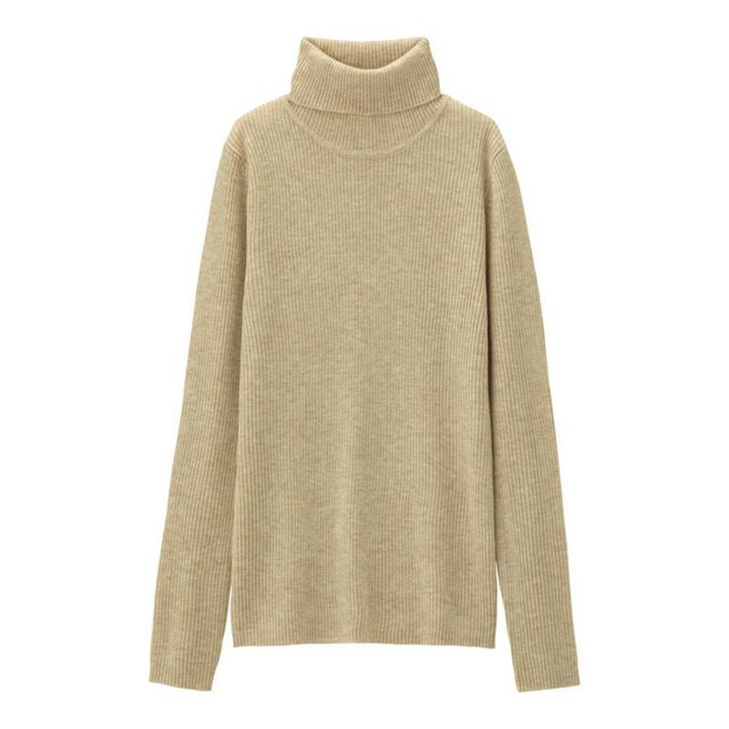 リブタートルネックセーター(長袖)