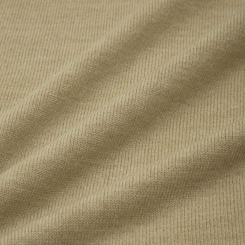 ソフトリッチクルーネックカーディガン(長袖)