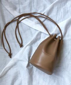 【Holiday】エコレザーミニ巾着バッグ