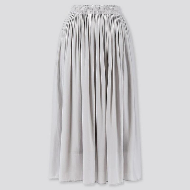 ギャザーロングスカート (丈短め76~80cm)