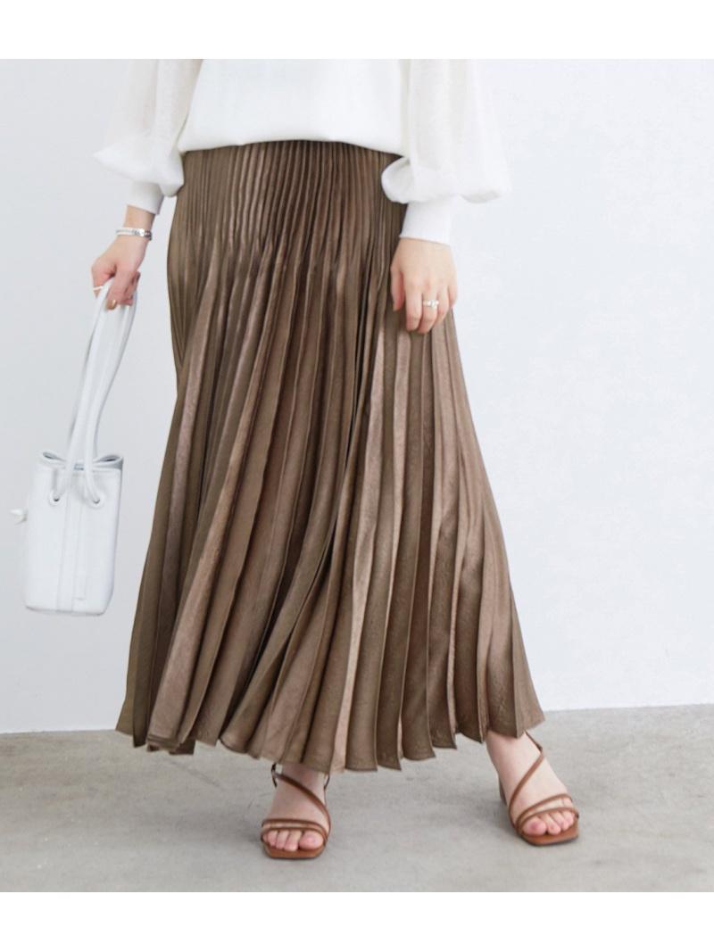 ワッシャーサテンプリーツスカート