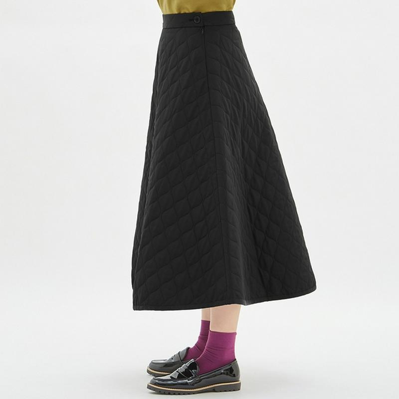 キルトフレアロングスカート+E