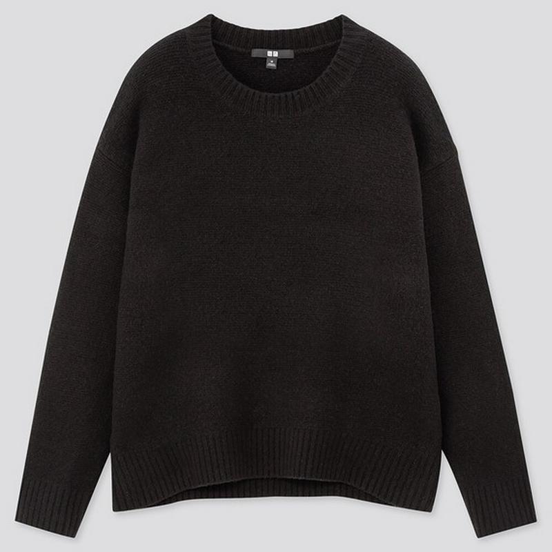 ライトスフレヤーンリラックスクルーネックセーター(長袖)