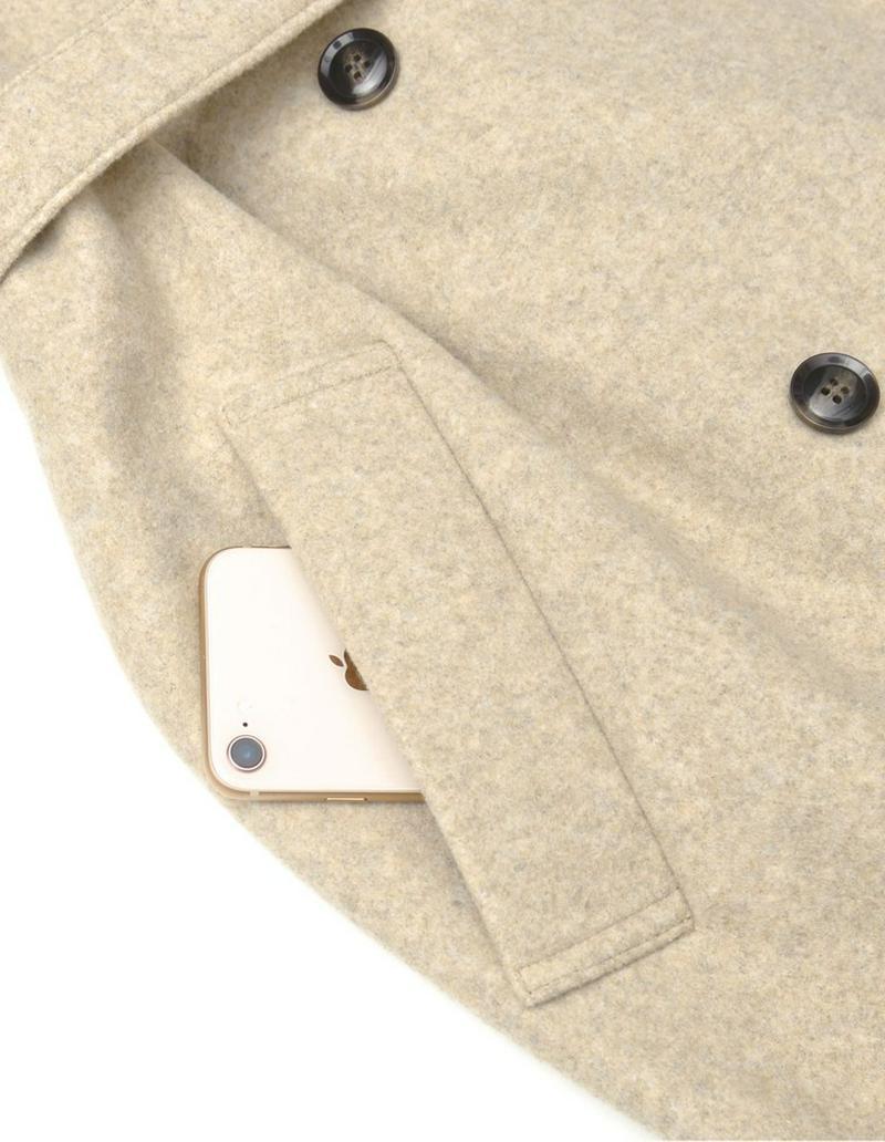 [低身長向け/高身長向けサイズ対応]ジャージーメルトントレンチデザインコート[入荷済]