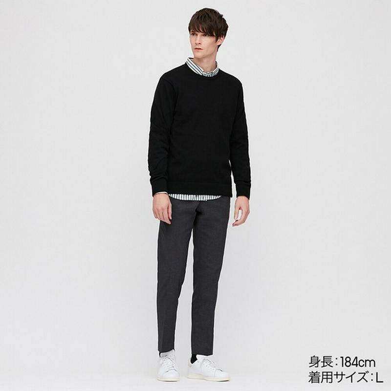 スーピマコットンクルーネックセーター(長袖)