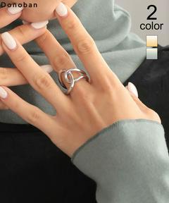 指輪 ツイストリング レディース アクセサリー ボリューム 合金 DONOBAN|ゴールド シルバー ベーシック シンプル 大ぶり ボリューミー 軽量 シンプルデザイン ドノバン メール便OK