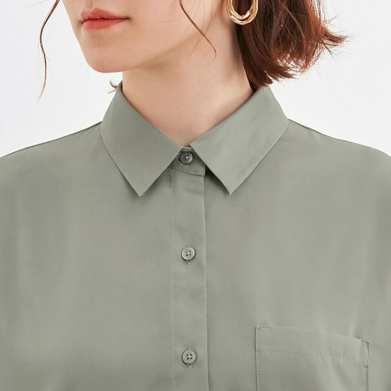 シアーオーバーサイズシャツ(長袖)Q