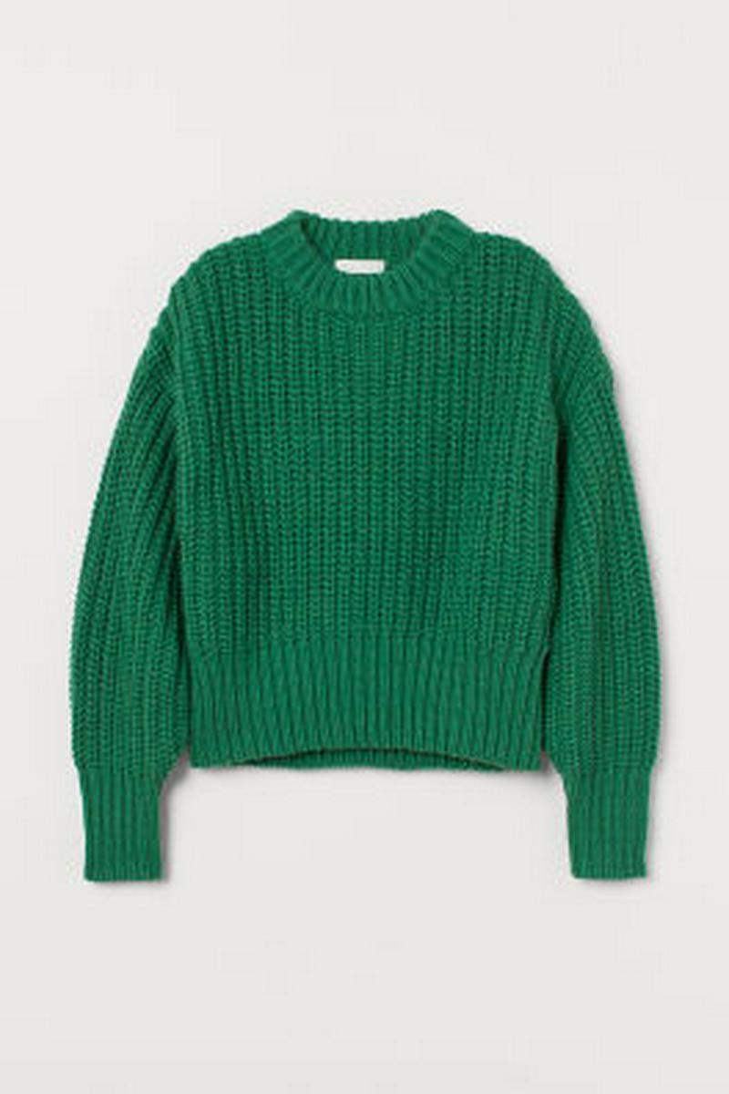 チャンキーニットセーター