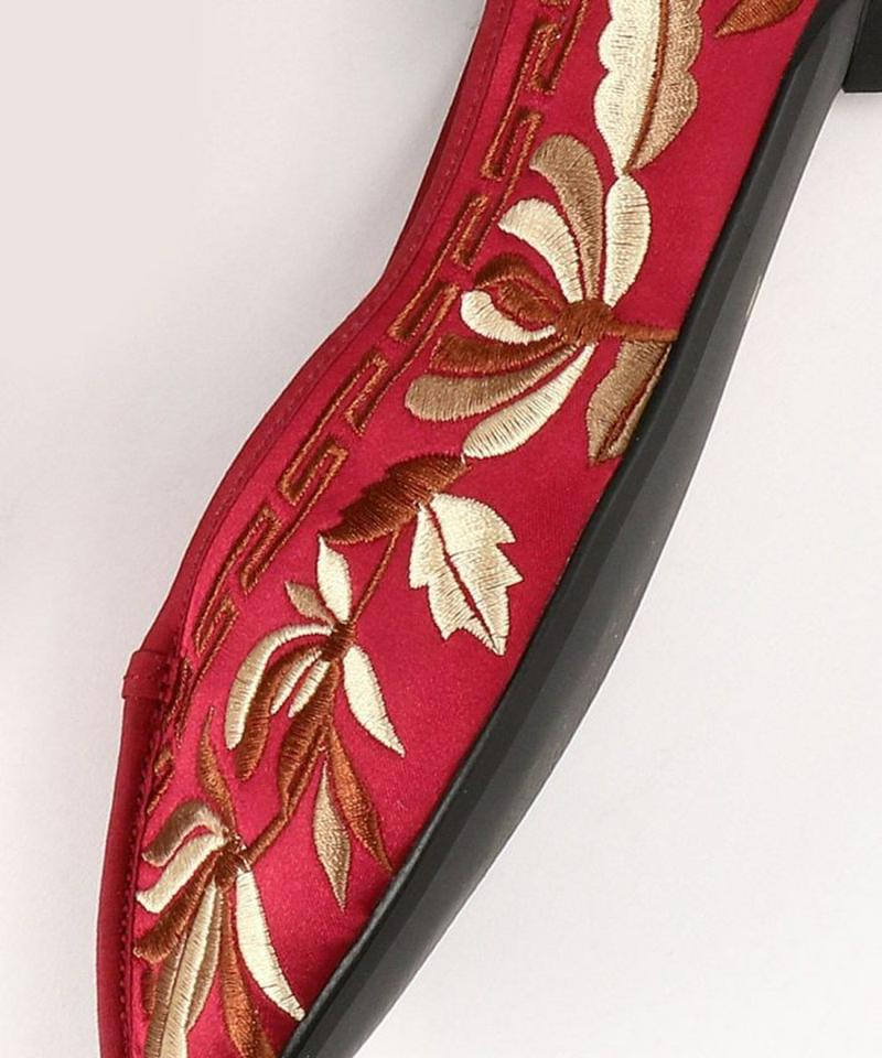 オリジナル刺繍チャイナシューズ