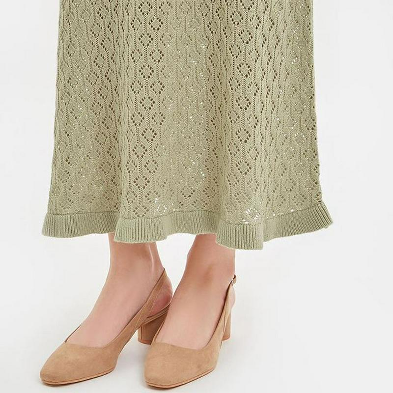 透かし編みニットスカート(セットアップ可能)