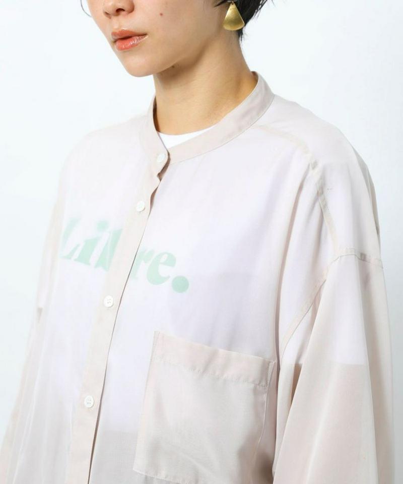 オーガンジーマオカラーシャツ