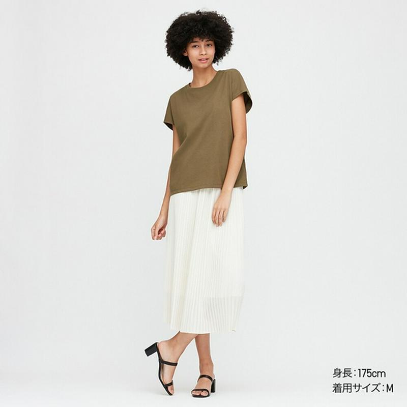 コットンリラックスフレンチスリーブT(半袖)