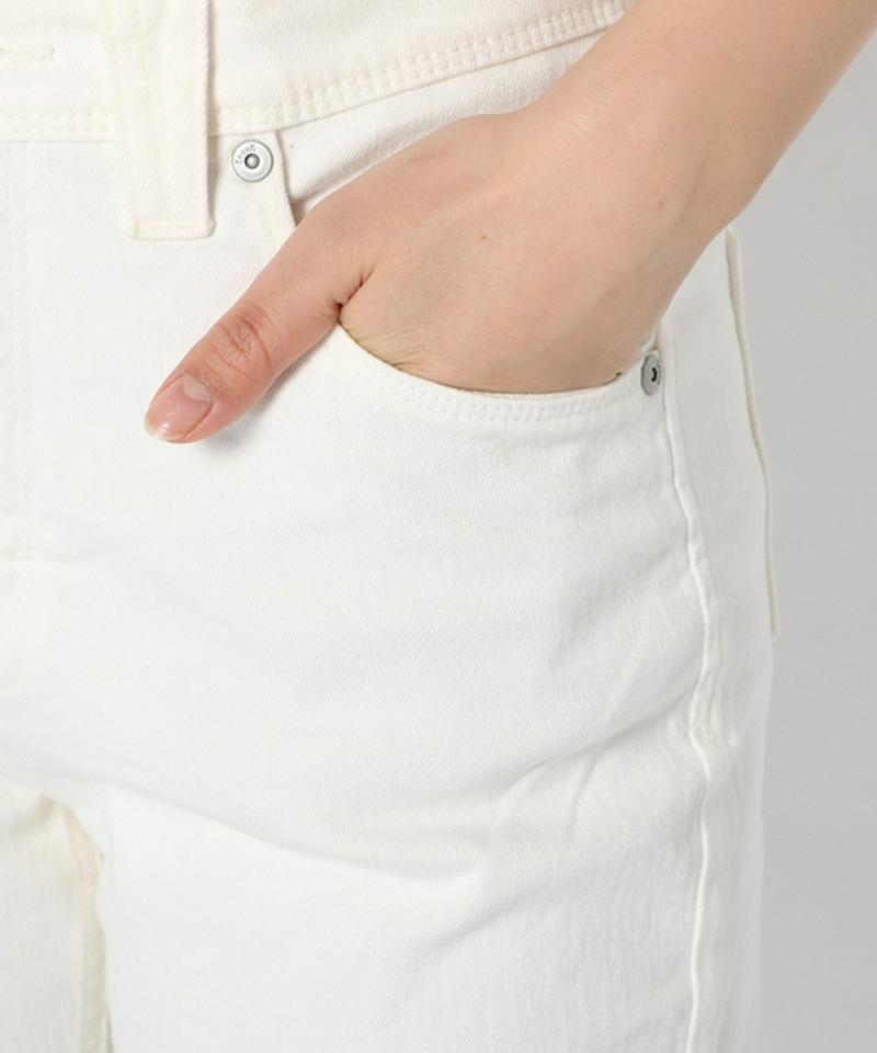 【YANUK】RUTH/ルース スリムテーパードパンツ ホワイト
