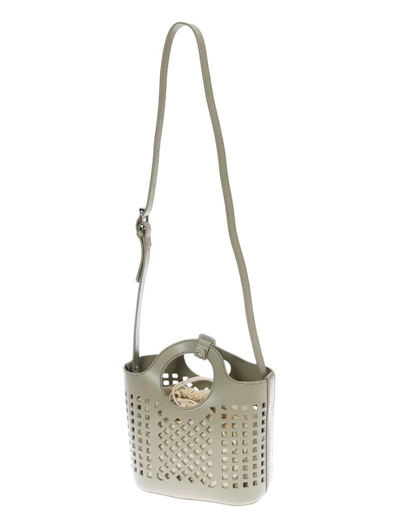 パンチングデザインミニバッグ