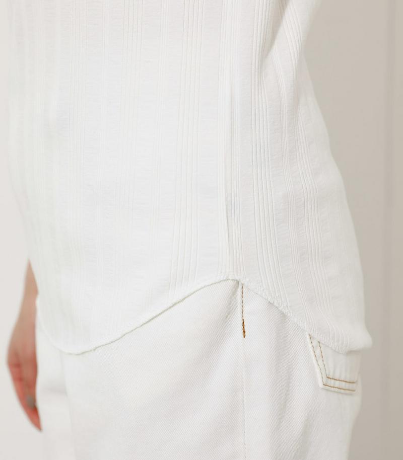 COTTON USA RANDOMRIB T/コットンUSAランダムリブTシャツ