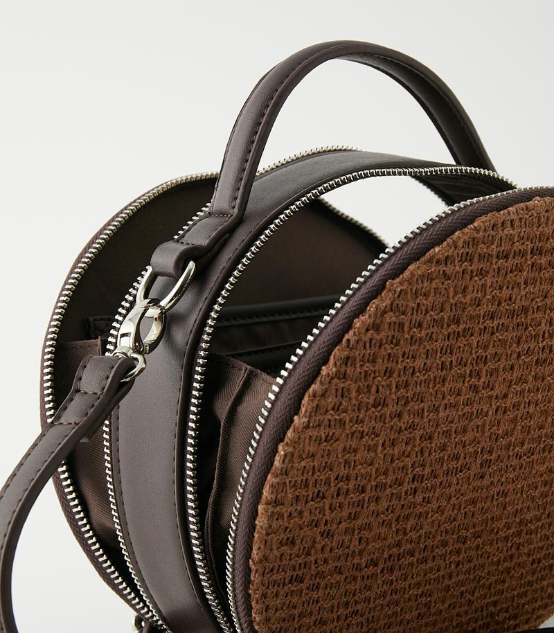CIRCLE STRAWMESH SHOULDER BAG/サークルストローメッシュショルダーバッグ