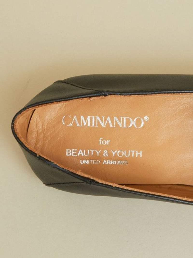 【別注】<CAMINANDO>∴スクエアトゥレザービットローファー -2WAY-