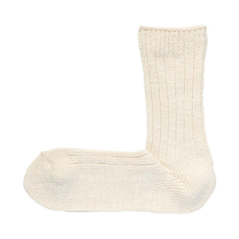 足なり直角 ムラ糸 靴下(婦人・えらべる) 23~25cm・アイボリー