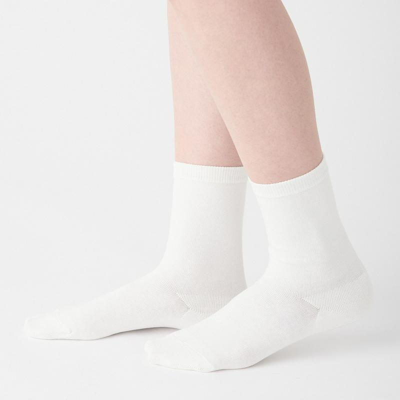足なり直角 口ゴムなし三層 靴下(婦人・えらべる) 21~23cm・オフ白